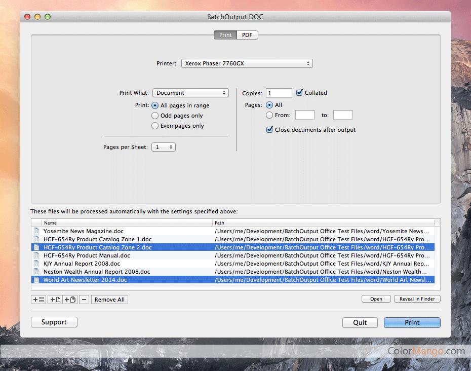 BatchOutput PPT Screenshot