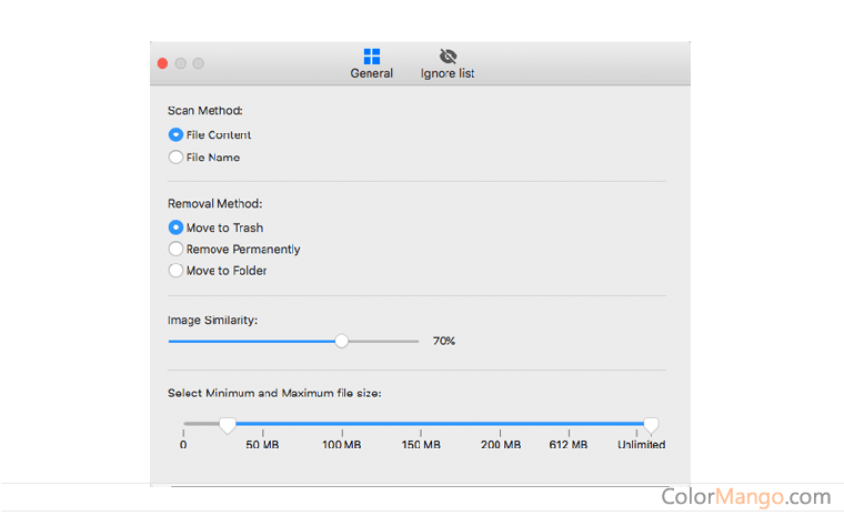 Cisdem Duplicate Finder for Mac Bildschirmfoto