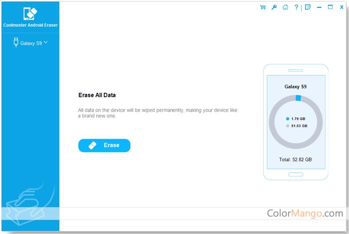 Coolmuster Android Eraser Bildschirmfoto