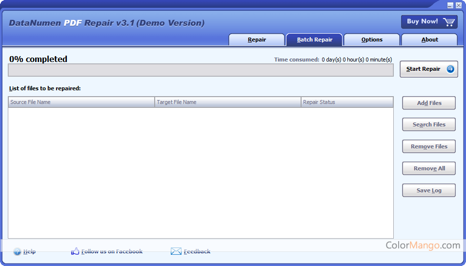 DataNumen PDF Repair Screenshot