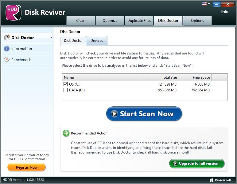 Disk Reviver スクリーンショット