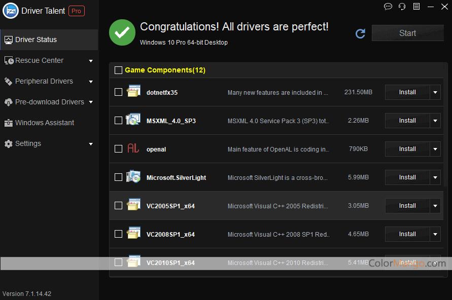 Driver Talent Pro for Network Card Capture D'écran