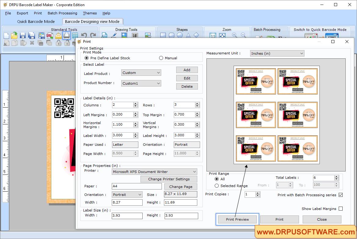DRPU Barcode Label Maker Capture D'écran