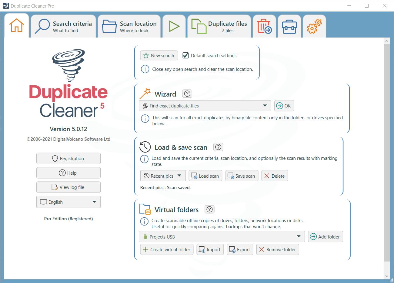 Duplicate Cleaner Pro Capture D'écran