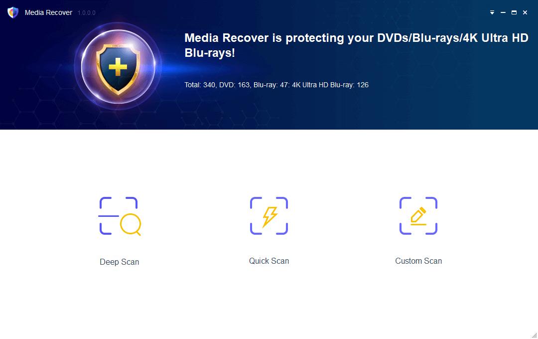 DVDFab Media Recover for DVD & Blu-ray Screenshot