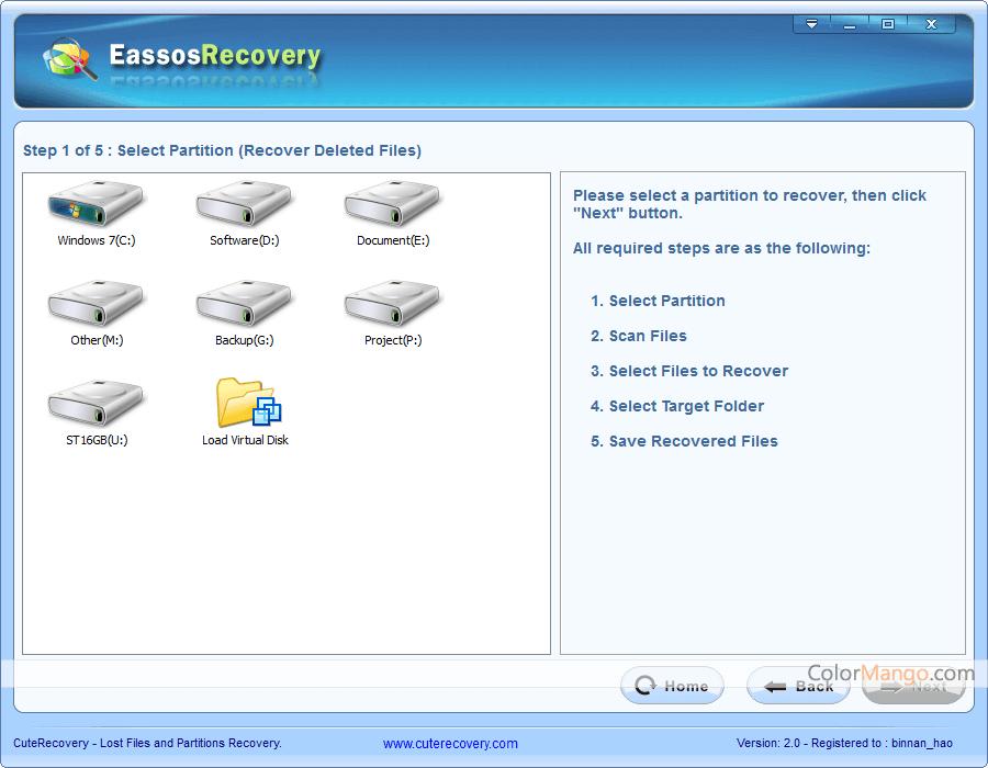 Eassos Recovery Screenshot