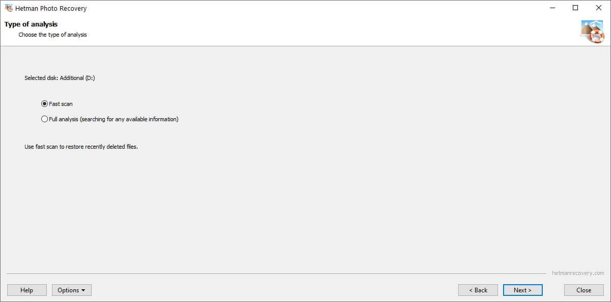 Hetman Photo Recovery Screenshot