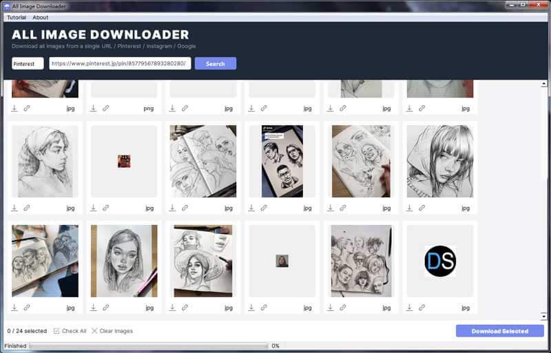 ImgDownloader Bildschirmfoto