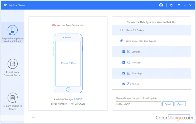 iMyFone iTransor Screenshot