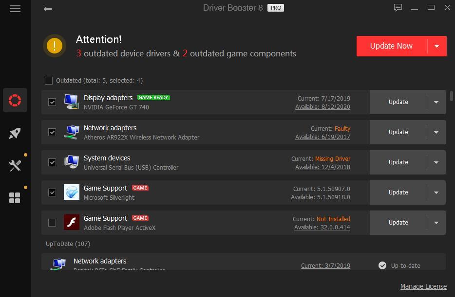 IObit Driver Booster PRO Capture D'écran
