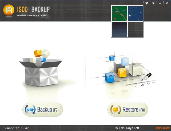 Isoo Backup Screenshot
