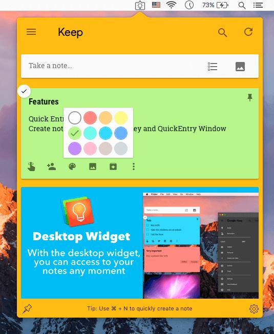 KeepNotes for Google Keep Screenshot