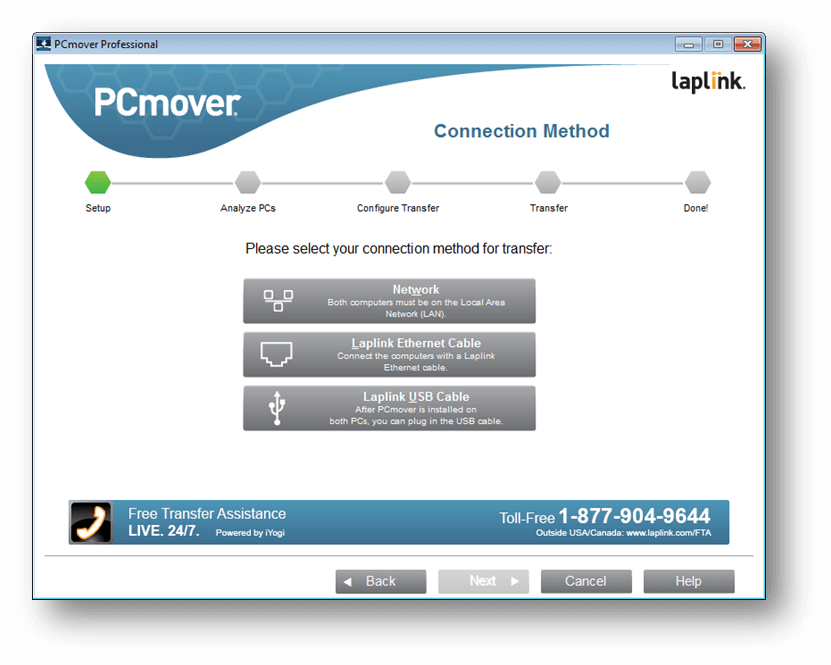 Laplink PCmover Screenshot
