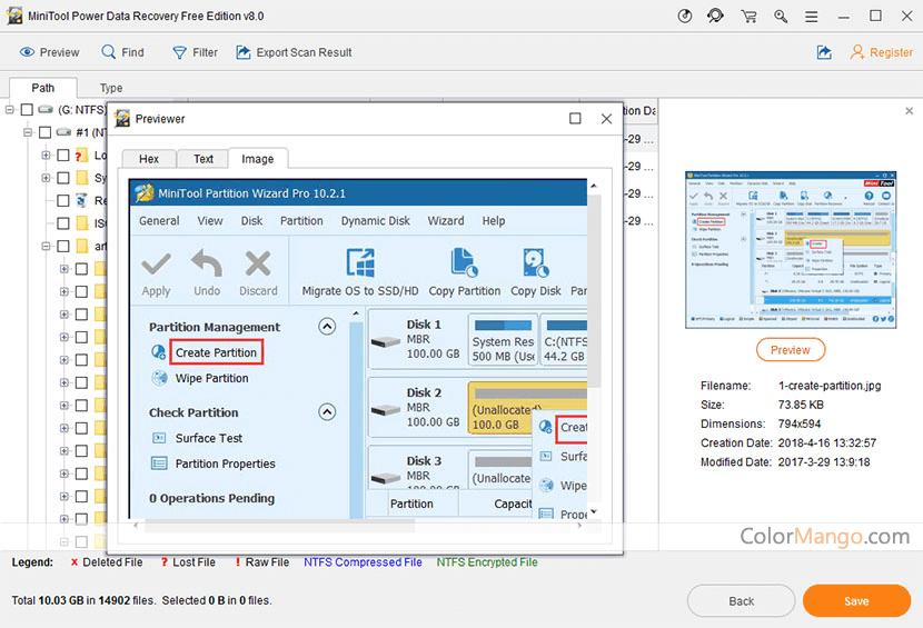 MiniTool Power Data Recovery Free Screenshot