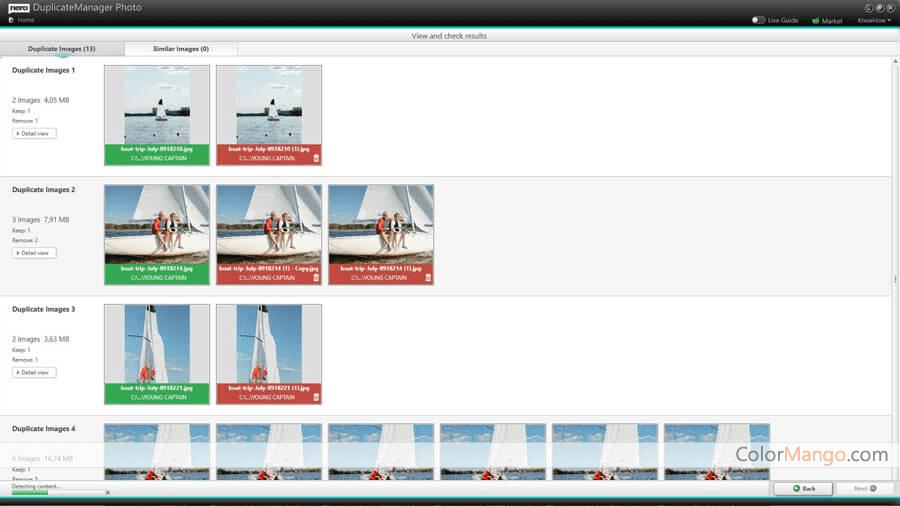 Nero DuplicateManager Photo Screenshot