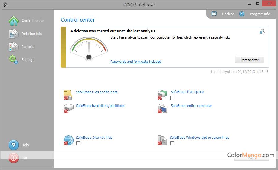 O&O PowerPack Screenshot