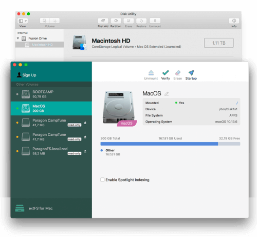 Paragon extFS for Mac Screenshot