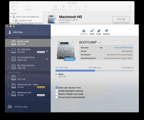Paragon NTFS for Mac Screenshot