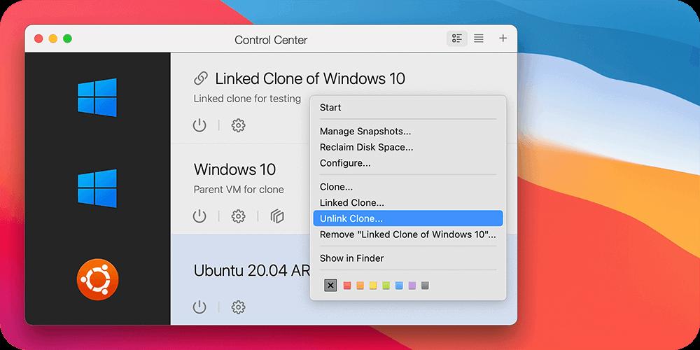 Parallels Desktop for Mac Capture D'écran