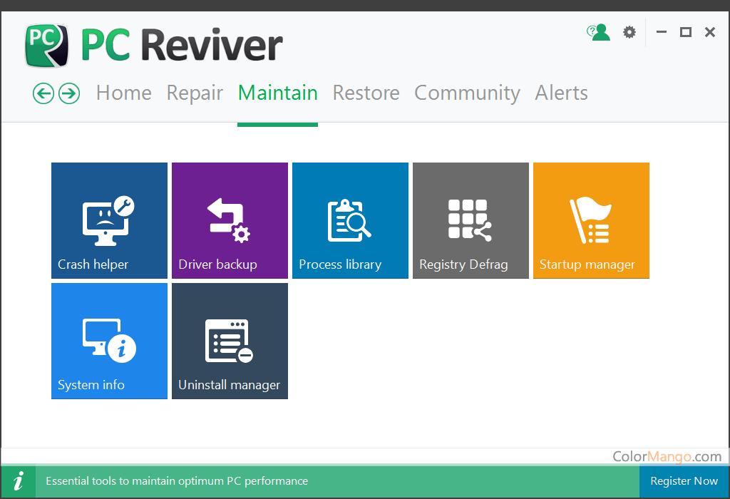 PC Reviver Bildschirmfoto