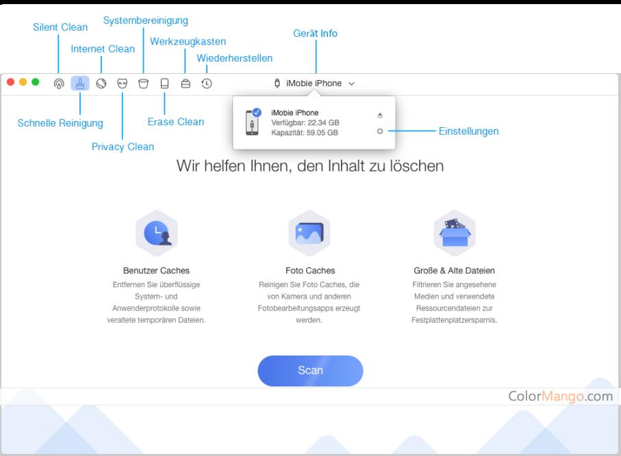 PhoneClean Pro Bildschirmfoto