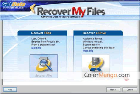 Recover My Files Data Recovery Screenshot