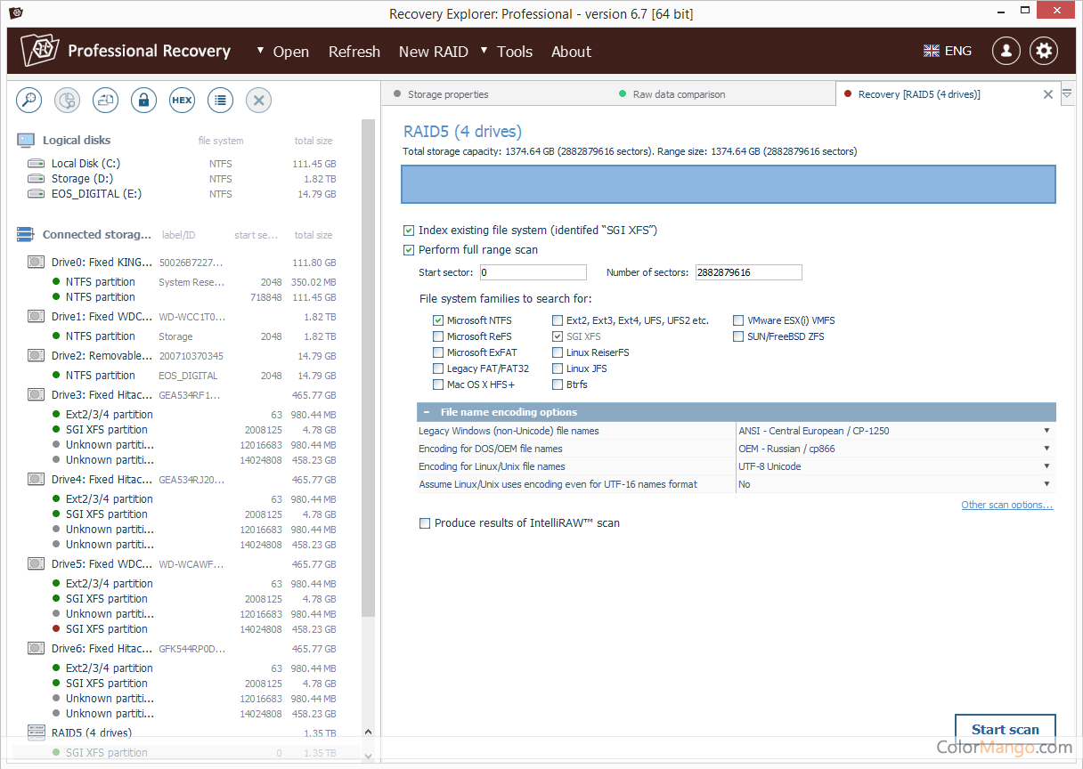 Recovery Explorer Professional Screenshot