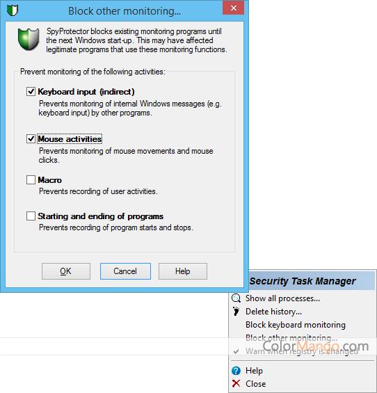 Security Task Manager Screenshot