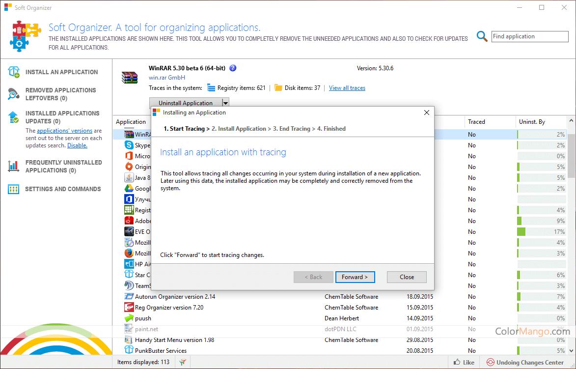 Soft Organizer Capture D'écran