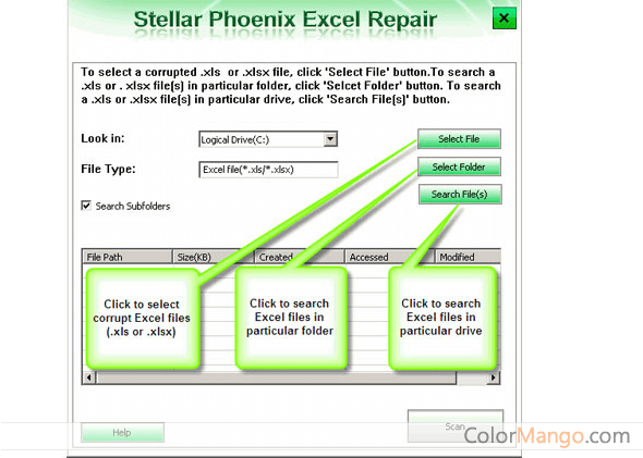 Stellar Repair for Excel Screenshot