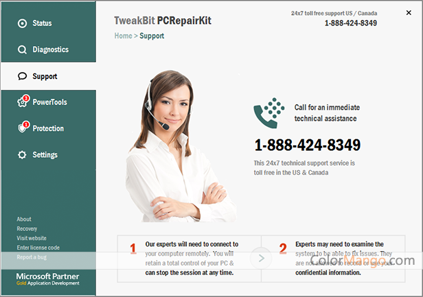 TweakBit PCRepairKit Screenshot