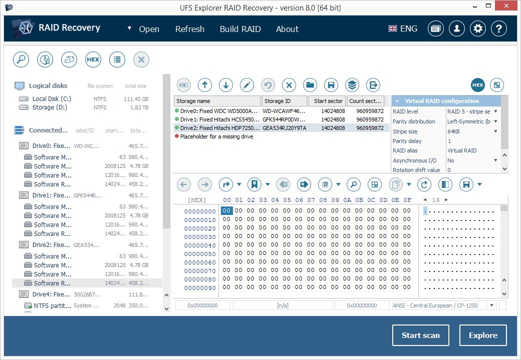 UFS Explorer RAID Recovery Capture D'écran