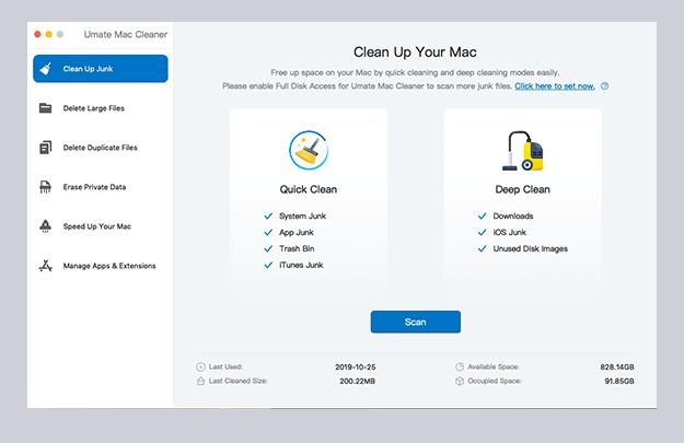 Umate Mac Cleaner Screenshot