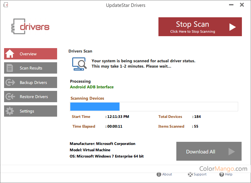 UpdateStar Drivers Screenshot