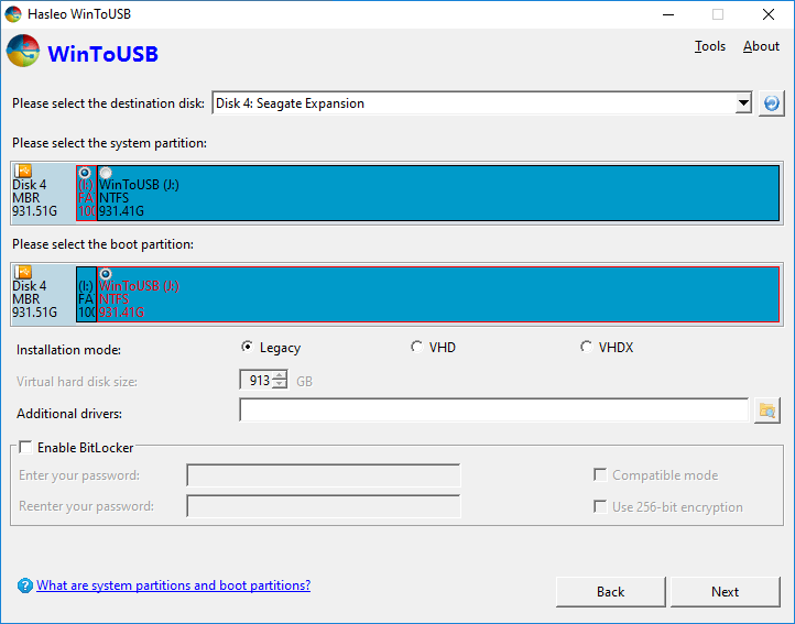 WinToUSB Screenshot