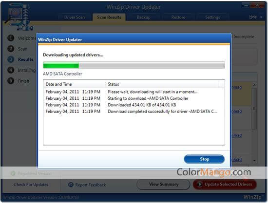 WinZip Driver Updater Screenshot