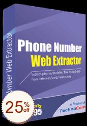 Phone Number Web Extractor Rabatt Gutschein-Code