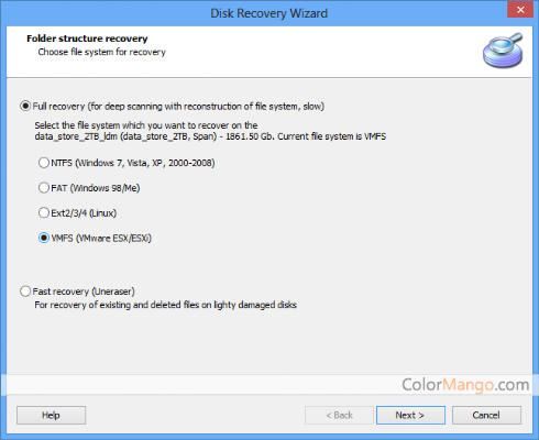 DiskInternals VMFS Recovery Shopping & Review Screenshot