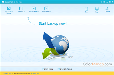 EaseUS Todo Backup Free Shopping & Trial Screenshot
