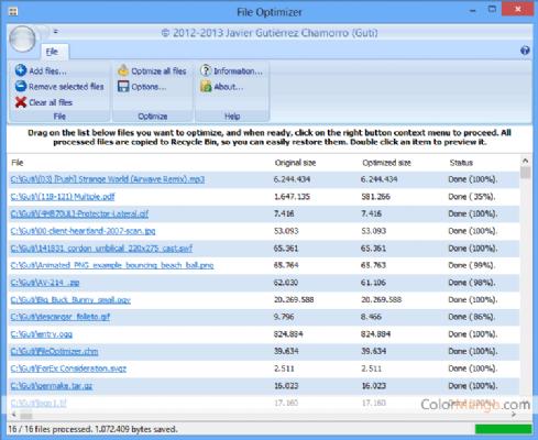 FileOptimizer Shopping & Review Screenshot