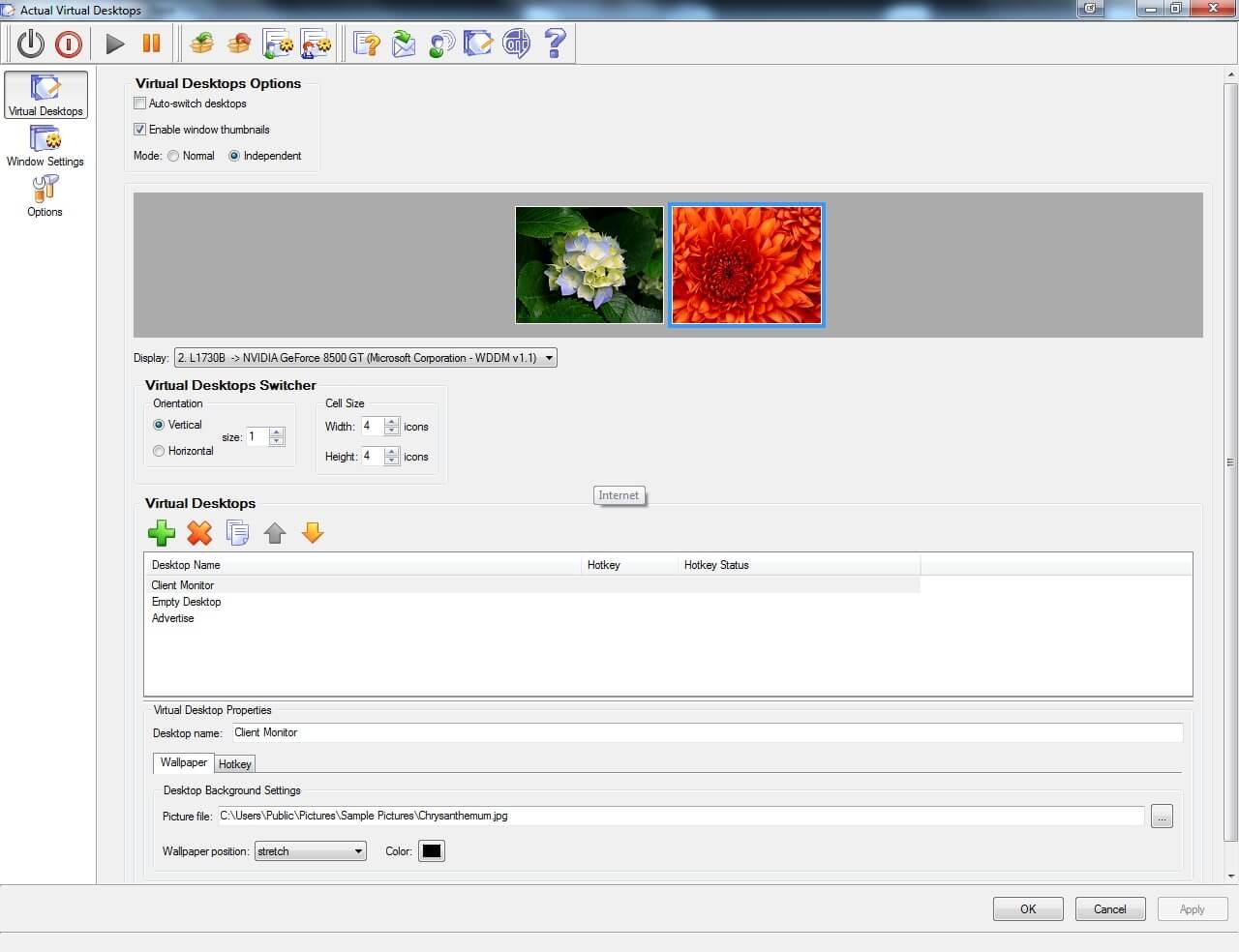 Actual Virtual Desktops Screenshot