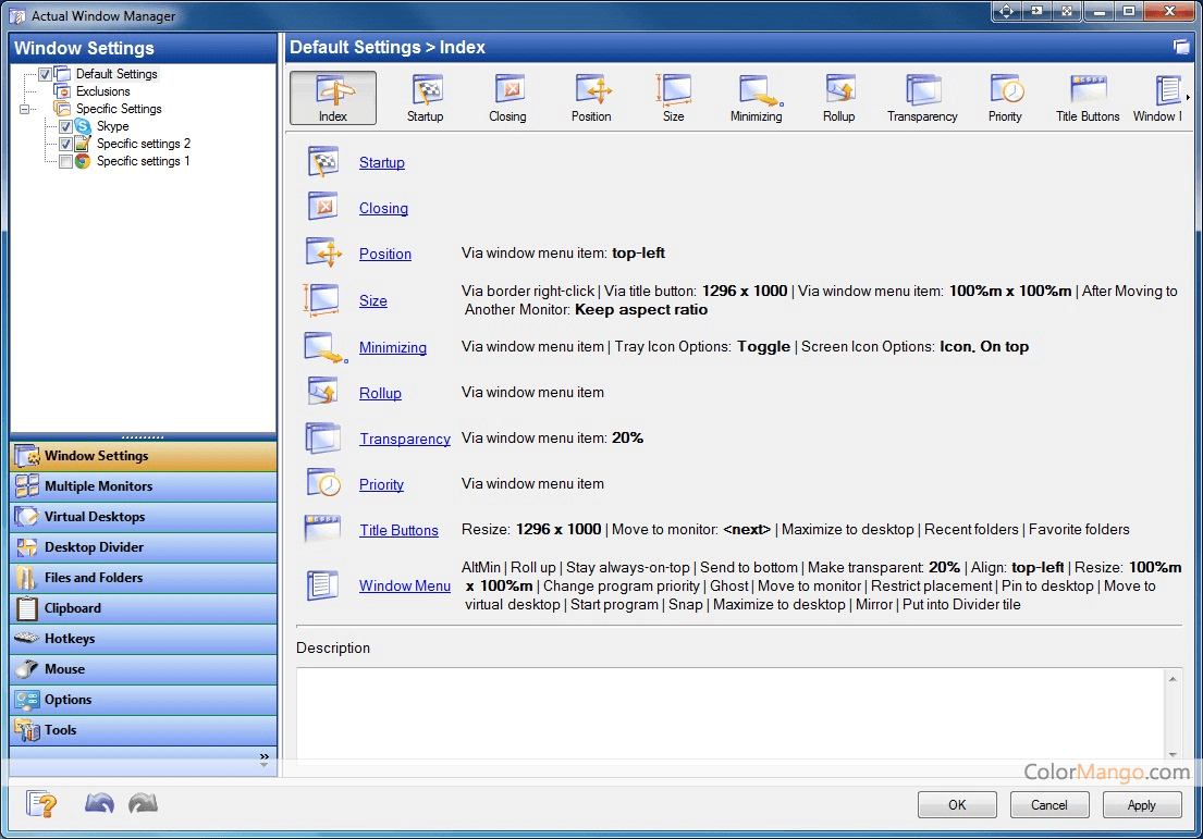 Actual Window Manager Screenshot