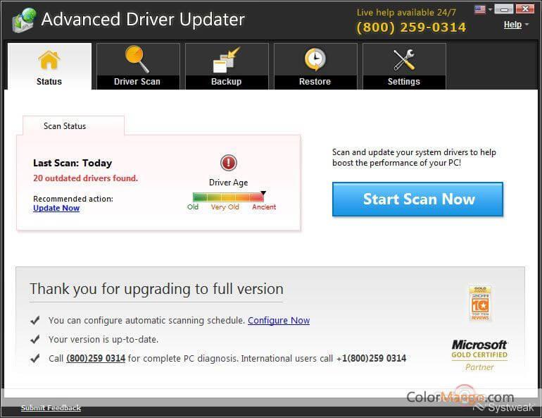 Advanced Driver Updater Screenshot