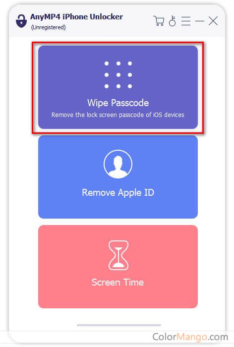 AnyMP4 iPhone Unlocker Screenshot