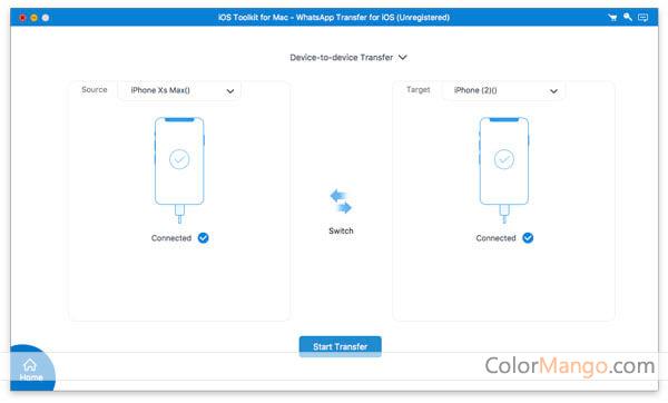 AnyMP4 WhatsApp Transfer for iOS Screenshot