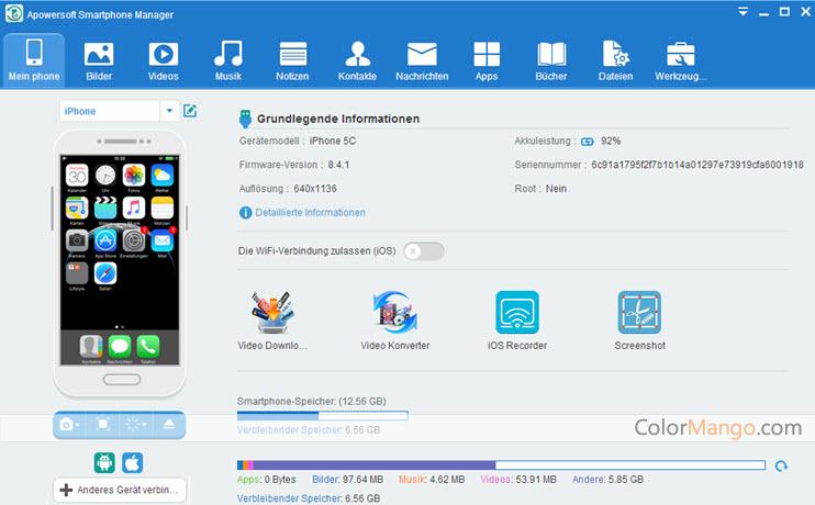 Apowersoft Smartphone Manager Screenshot