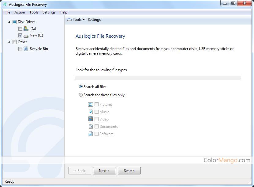 Auslogics File Recovery Screenshot