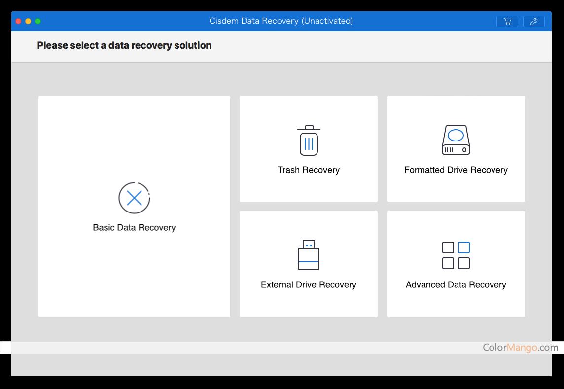 Cisdem Data Recovery Screenshot