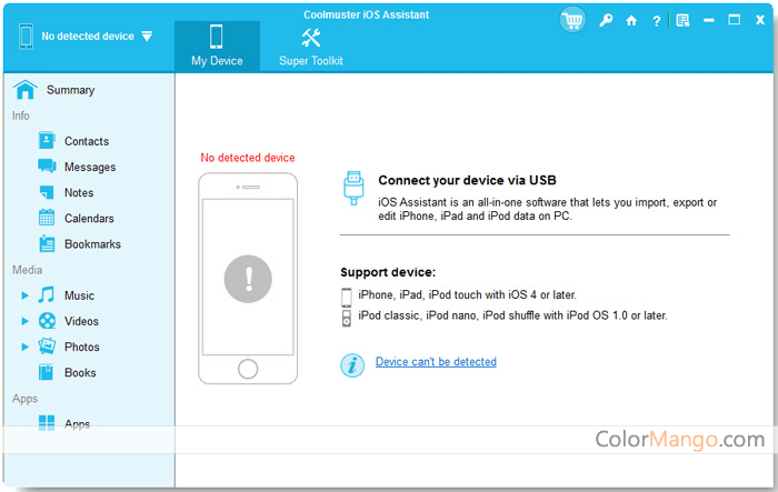 Coolmuster iOS Assistant Screenshot