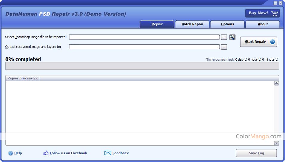 DataNumen PSD Repair Screenshot